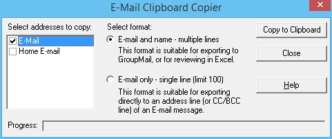 4 - E-mail Clipboard Copier