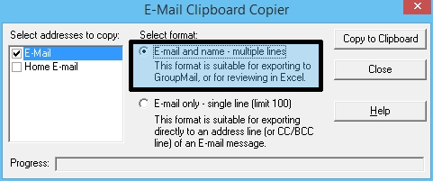5 - E-mail Clipboard Excel