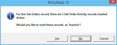 7 - Inactivate Job Order